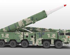 3D model DF21 DF-21 Medium Range Ballistic Missile MRBM