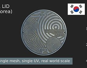 South Korea sewer lid 3D asset