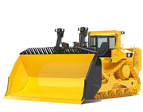 3D model vehicle road Bulldozer