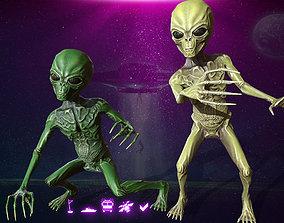 3D asset Alien Yellow - Green
