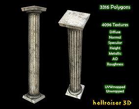 Pillar - Column - PBR - Dirty Textured 3D asset