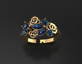 design 3D printable model Flower ring