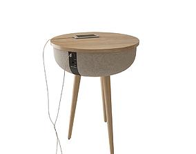 wood vase Side table 3D