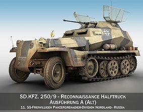 SDKFZ 250 9 - Reconnaissance Halftruck - Nordland 3D model