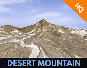 3D model Desert Mountain Rocks Landscape Terrain Cliff PBR