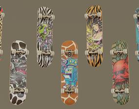 Skateboard Pack 3D model