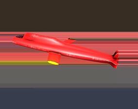 3D model game-ready Submarine