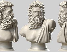 Zeus bust 3D printable model