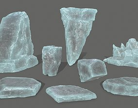 desert ice rocks 3D asset realtime
