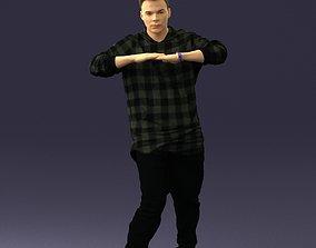 Teen in a checked shirt 0209 3D Print Ready