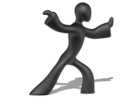 A Kung Fu for decoration 3D printable model