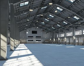 Warehouse interior and exterior model 2 3D