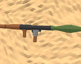3D asset Low-Poly Style RPG-7