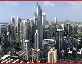 3D model Modern City Animated 004