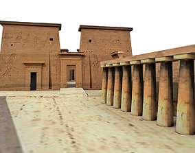 3D model Temple of Isis Philae Aswan Egypt - Low Poly