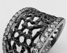 Amorphous ring abstraction 3D print model