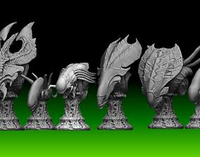 3D Aliens Chess set