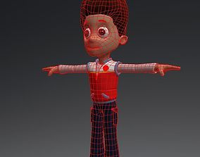 3D asset cartoon man