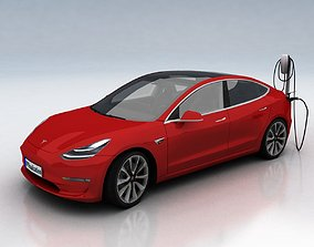 Tesla 3 3D asset