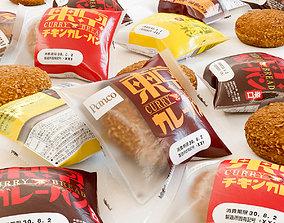 Bread Package - Curry Doughnut - Kare Pan 3D asset