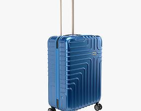John Lewis Suitcase 68cm Blue 3D model