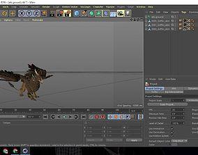 3D asset Griffin Unity Game AR VR Model Low Poly Design