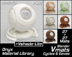 3D asset VMATS Onyx Material Library for Blender Cycles 1