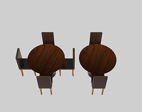 3D asset Dine Exhibit Table Chair