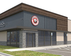 3D model Retail-034 Panda Express With Site