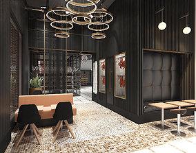 3D model supermarket living room
