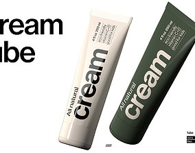 clear Cream Tube 3D model