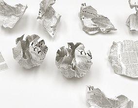 Crumpled Paper 3D model interior