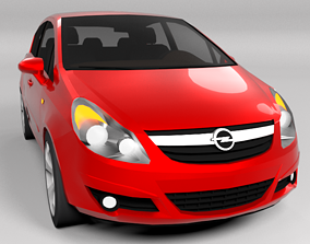 OPEL CORSA 2007 LOWPOLY 3D model low-poly