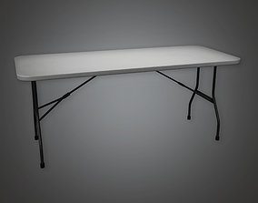 HLW - Folding Table 01 - PBR Game Ready 3D asset