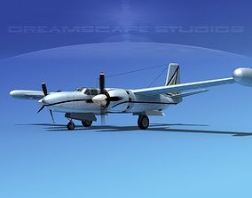 3D Douglas B-26 Marketeer V11