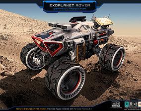 Exoplanet Rover 3D asset
