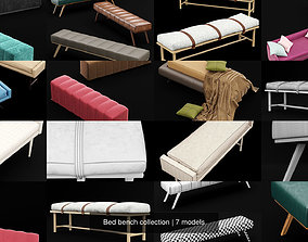 Bed bench collection 3D model
