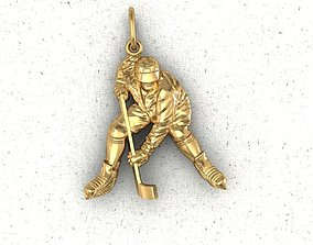 3D print model hockey player