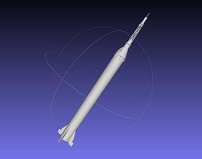 Mercury-Redstone Rocket Printable Miniature nasa