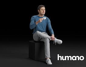 Humano Sitting man 0607 3D model