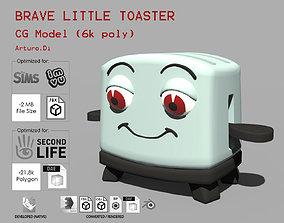 3D asset Toasty the brave little toaster