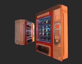 Sci-Fi Vending Machine And Snacks props 3D asset