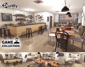 Cafe Interior 3D model game-ready