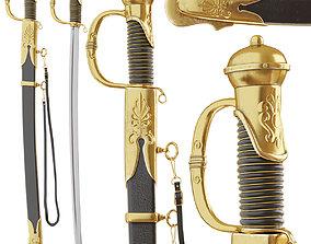 3D model Old saber