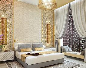 3D model moroccan bedroom