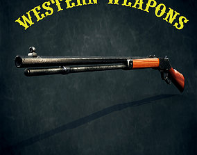 3D asset Winchester yellow boy 1866