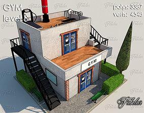 3D model game-ready Gym Level