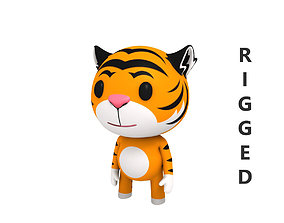 Rigged Tiger 3D model