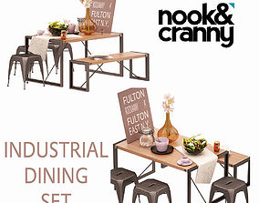 3D Nook and Cranny Industrial Dining Set