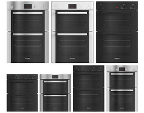 Collection of double ovens by BOSCH 01 3D model